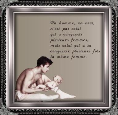 image homme avec bébé