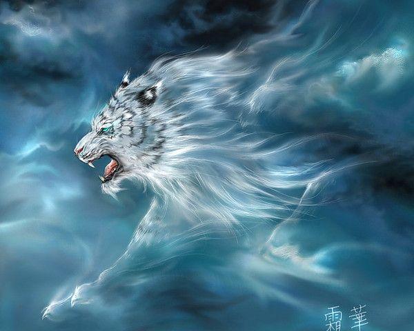 fond d'écran tigre 3D