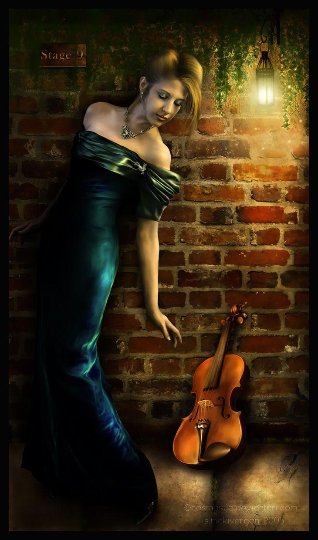 image la femme au violon