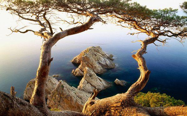 fond d'écran Tossa de Mar, Costa Brava Espagne 1920x1200