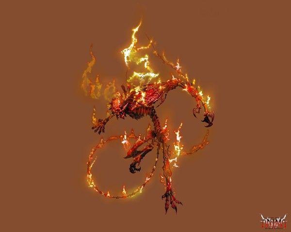 fond d'écran démon de feu