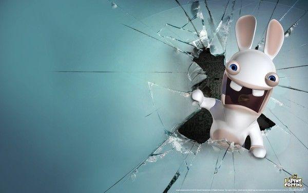 fond d'écran lapin crétin