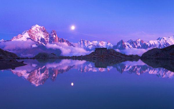 fond d'écran paysage Aiguilles de Chamonix,France 1920x1200