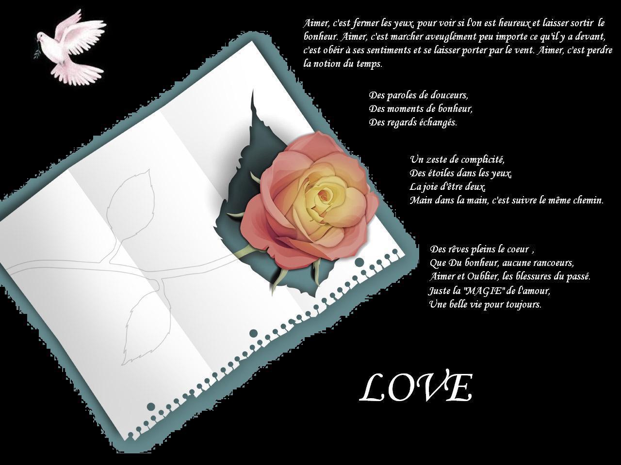 fond d'écran texte d'amour
