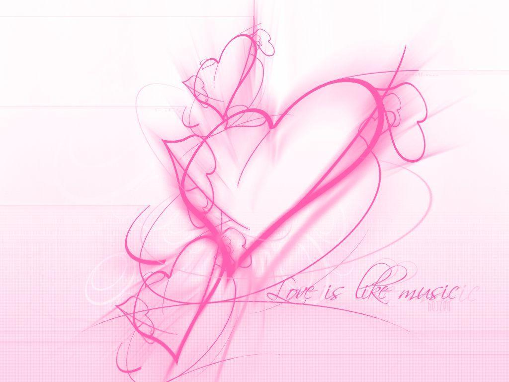 fond d'écran coeur rose