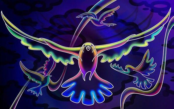 fond d'écran 3D oiseaux