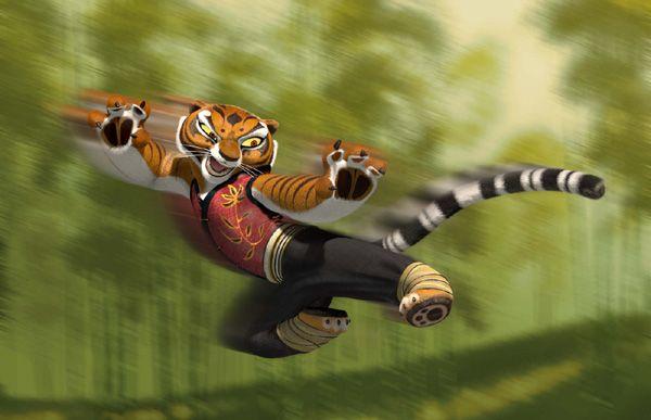 image tigre du film Kung Fu Panda