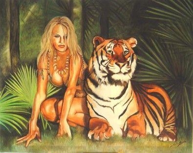 image la femme et le tigre