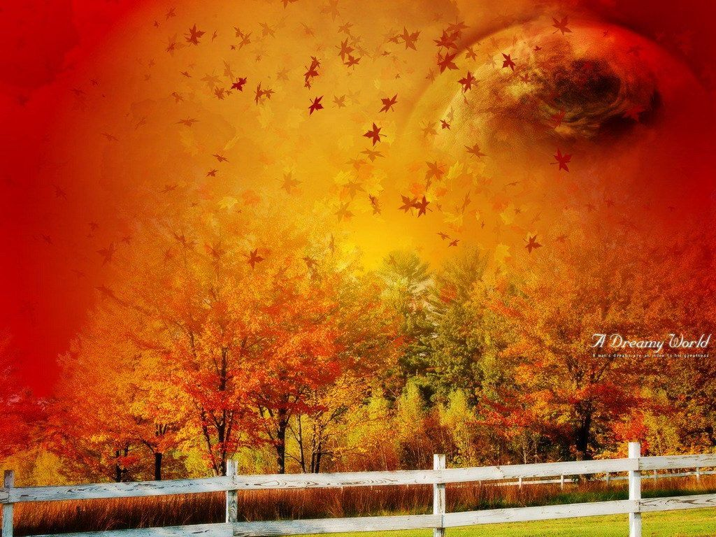 fond d'ecran 3d automne