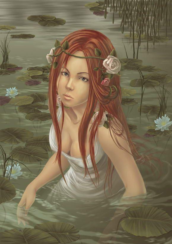 image femme dans l'eau