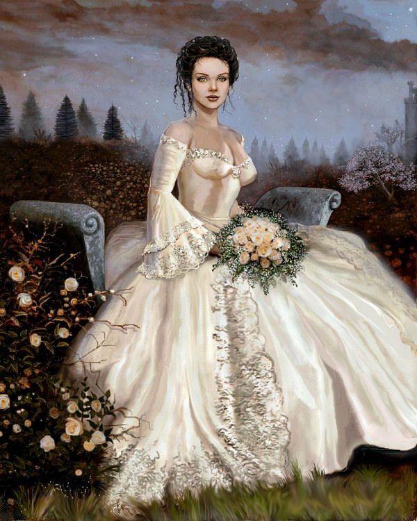 image femme jeune mariée