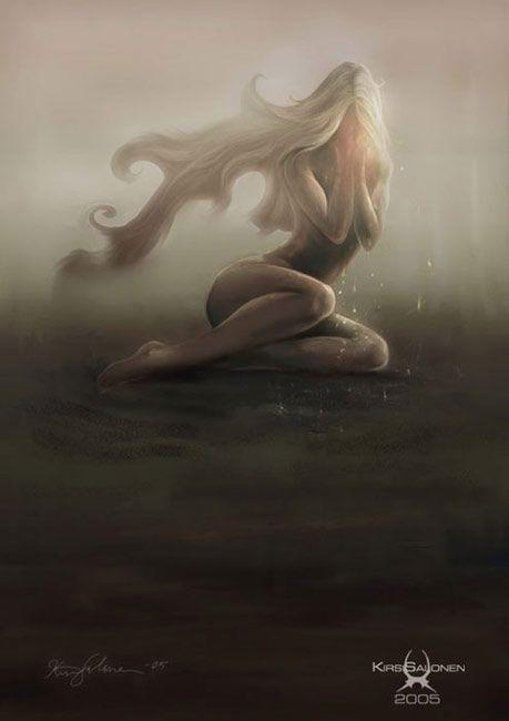 image femme en pleure