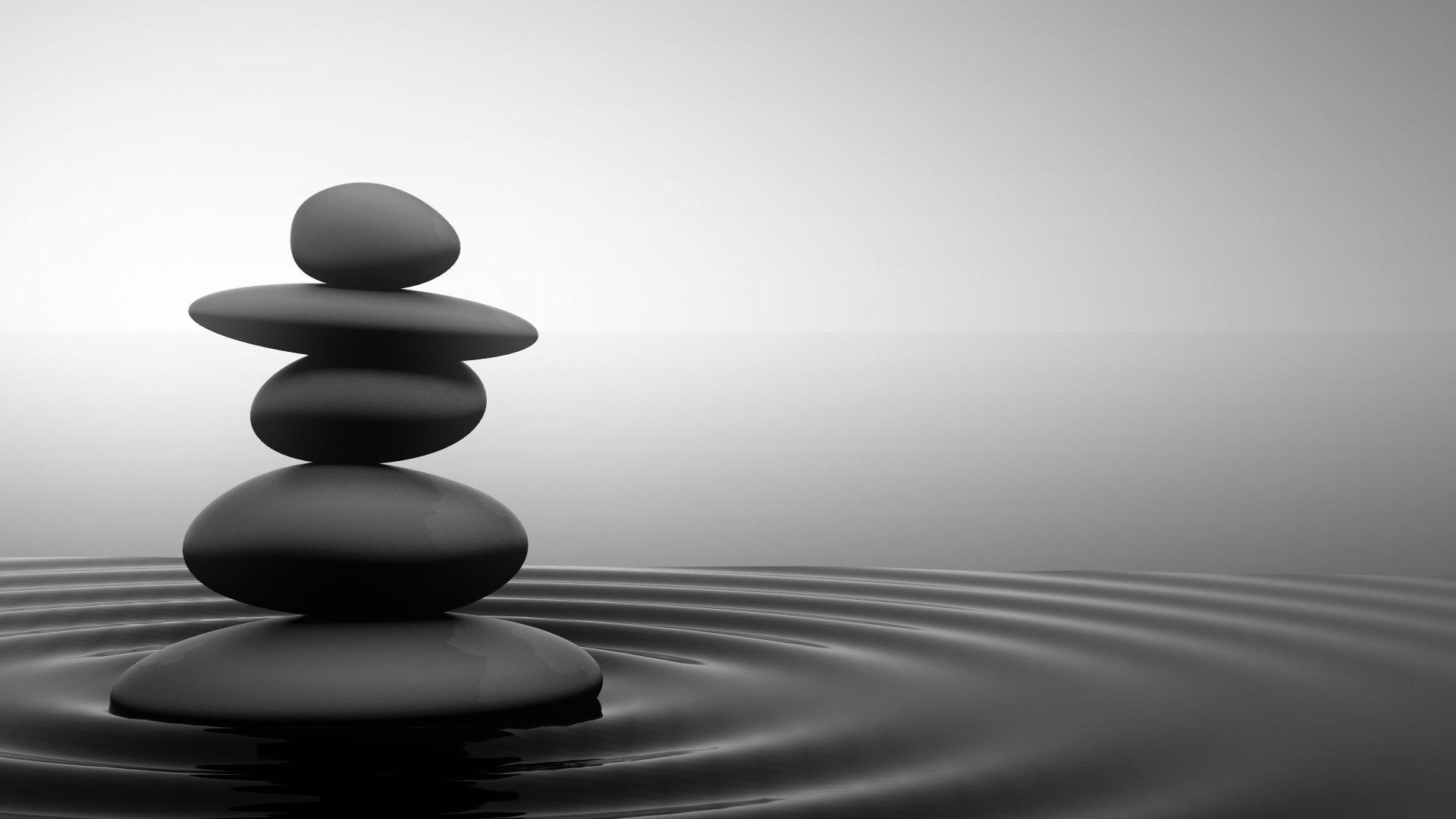 Fond d 39 cran zen galets for Image galet zen
