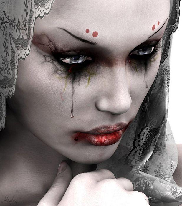 image femme triste