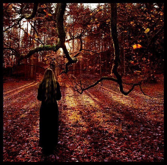 image d' une femme en automne