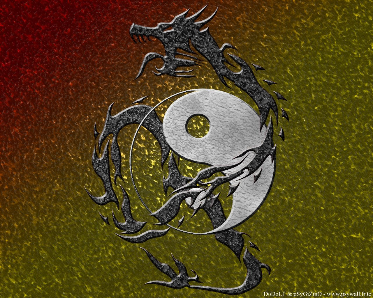 fond d'cran ying-yang