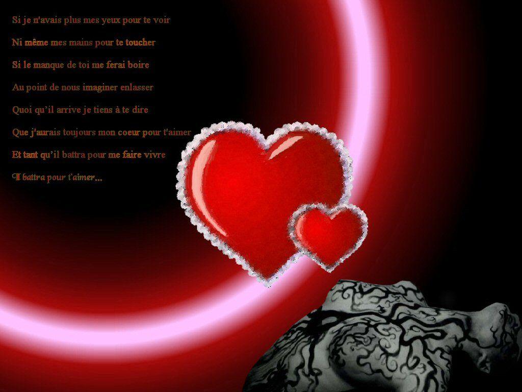 Fond d 39 cran texte d 39 amour coeur for Fond ecran amour